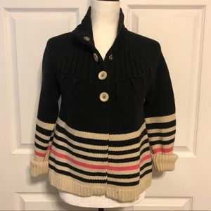 Anthropologie By Sanctuary Button Stripe Sweater